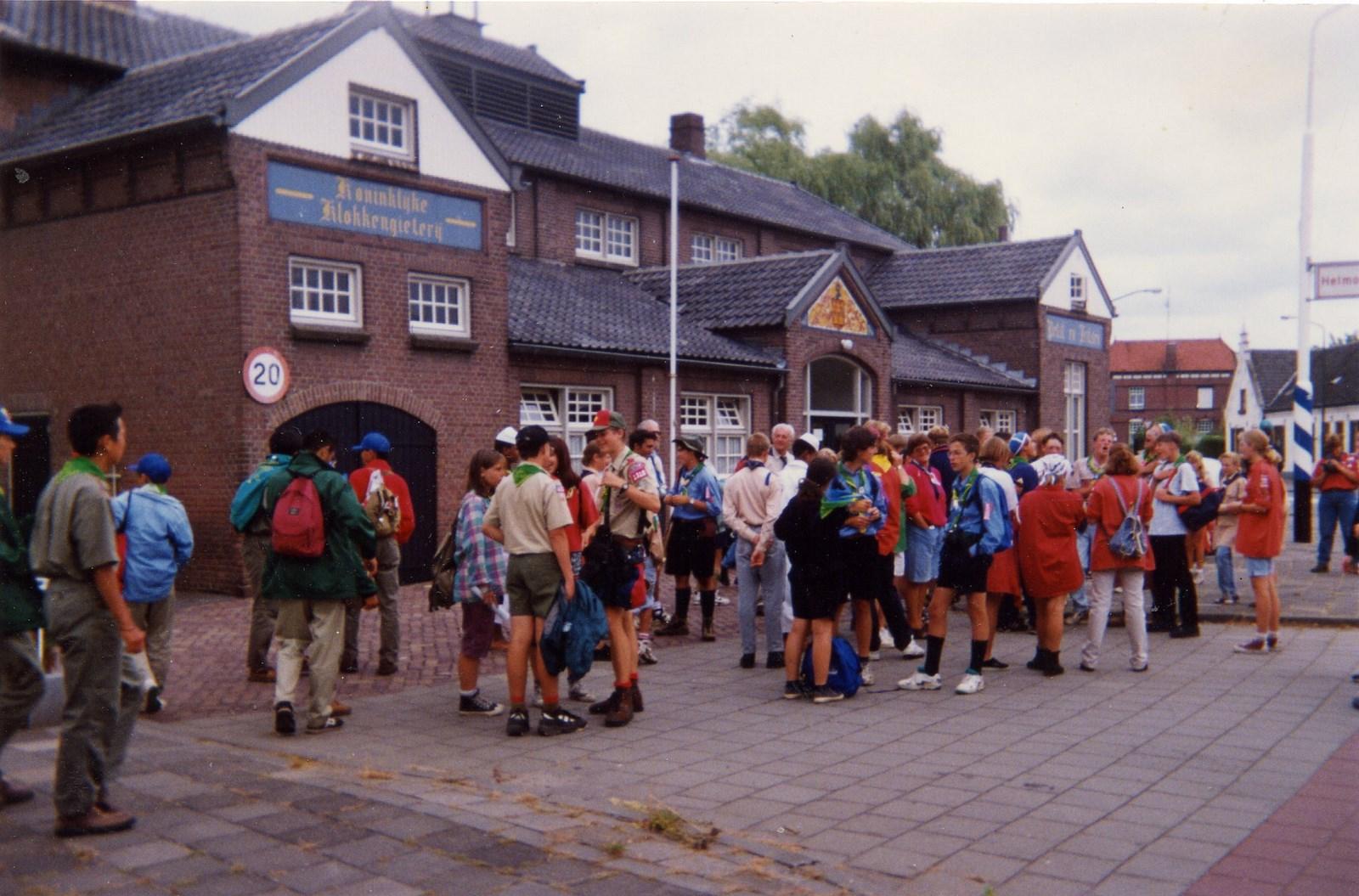 Deelnemers wereldjamboree 1995.
